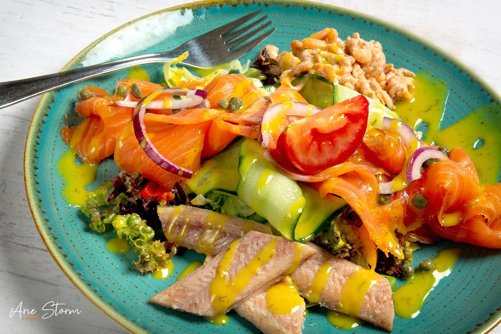 Foodfotografie, lunchgerecht met vis gefotografeerd door Arie Storm Fotografie