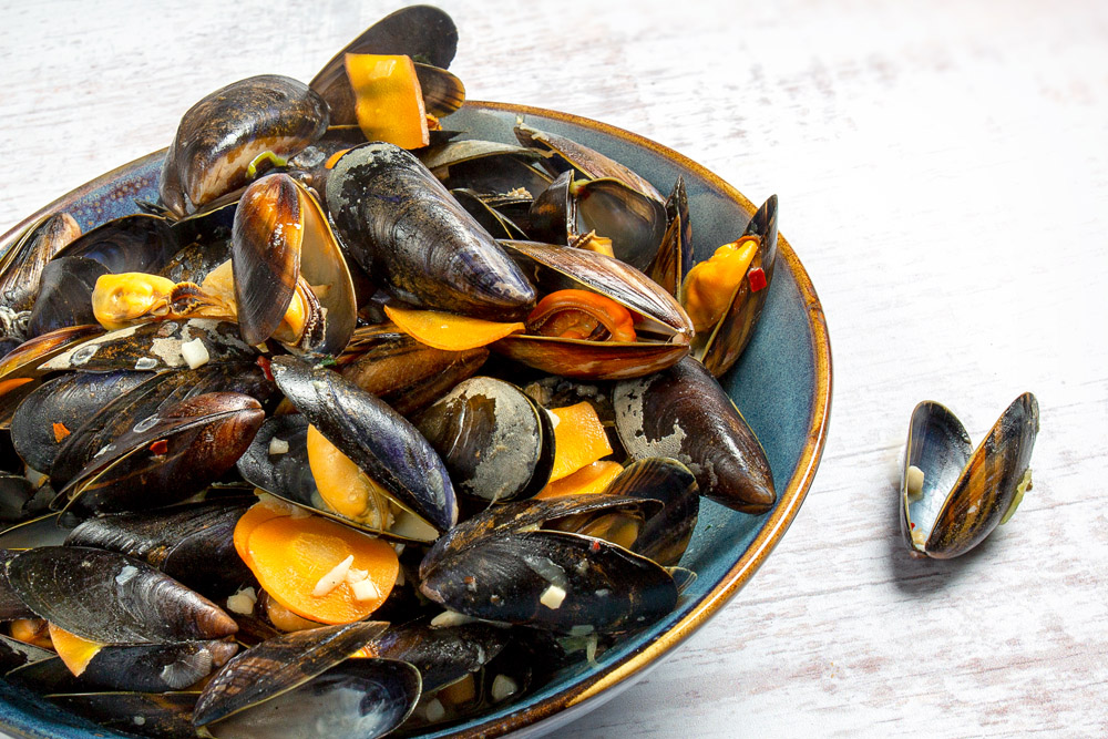 Foodfotografie, zeeuwse mosselen, een culinaire lekkernij.
